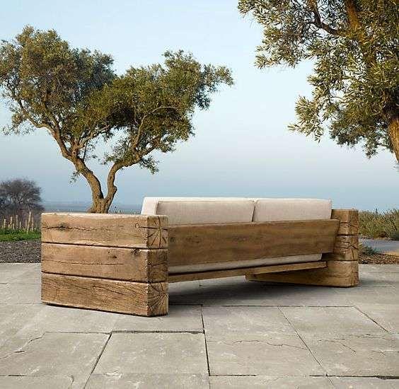 Divanetto con bancali nel 2019 arredamento da giardino for Divanetti giardino