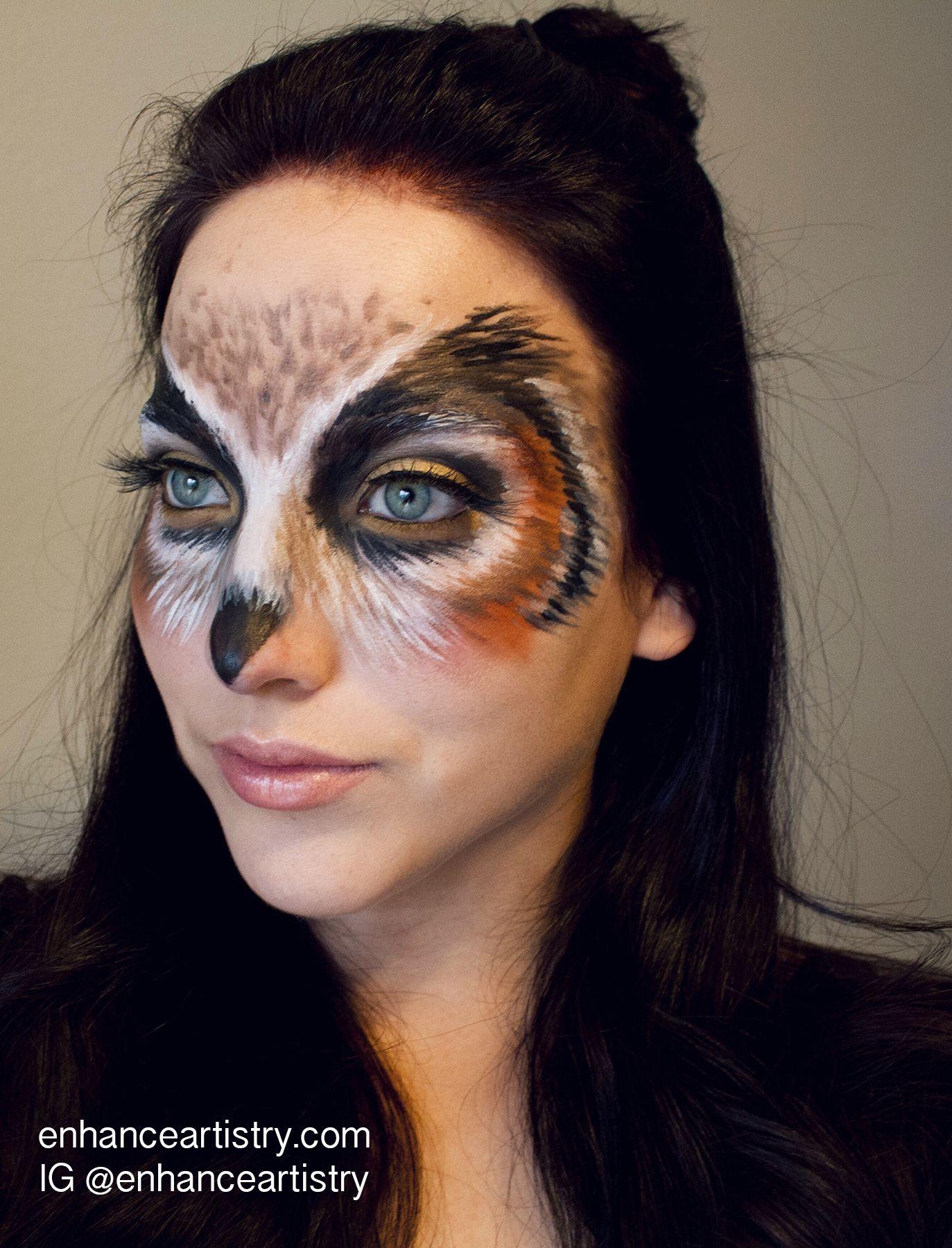 Owl halloween Makeup Beautiful halloween makeup, Animal