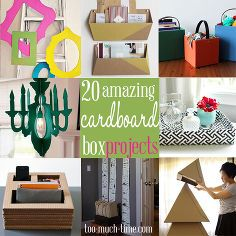 20 Amazing Cardboard Box Ideas Cleaning Tips Crafts Home Decor Repurposing Upcycling