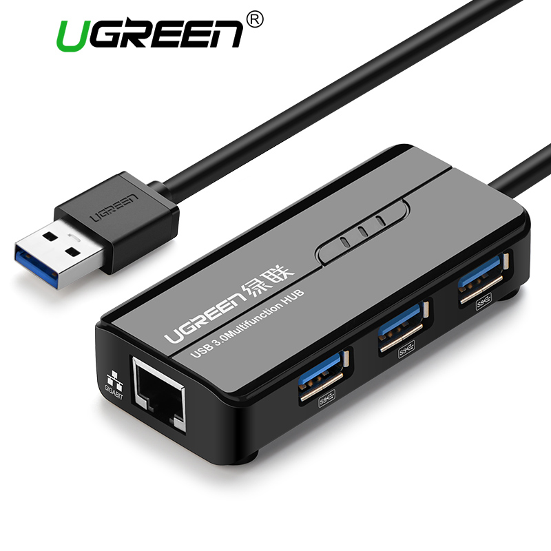 Ugreen Usb 3 0 Ethernet Adapter 3 Port Usb 2 0 Hub 1000mbps Internet Usb To Rj45 Gigabit Network Card Lan Adapter Ethernet Usb Usb Rj45 Usb Cables