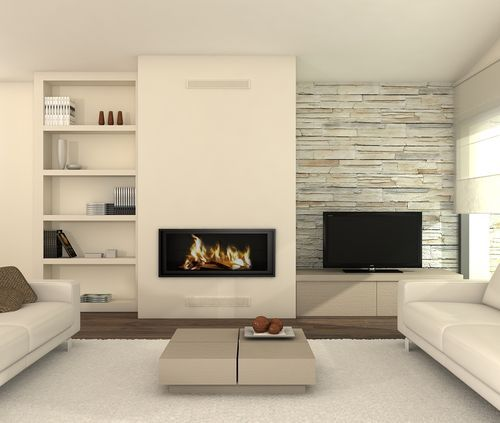 Neutral Living Room With Traditional Fireplace In 2019: Hirolin Living Room Pinterest Tv Fireplace Living Rooms