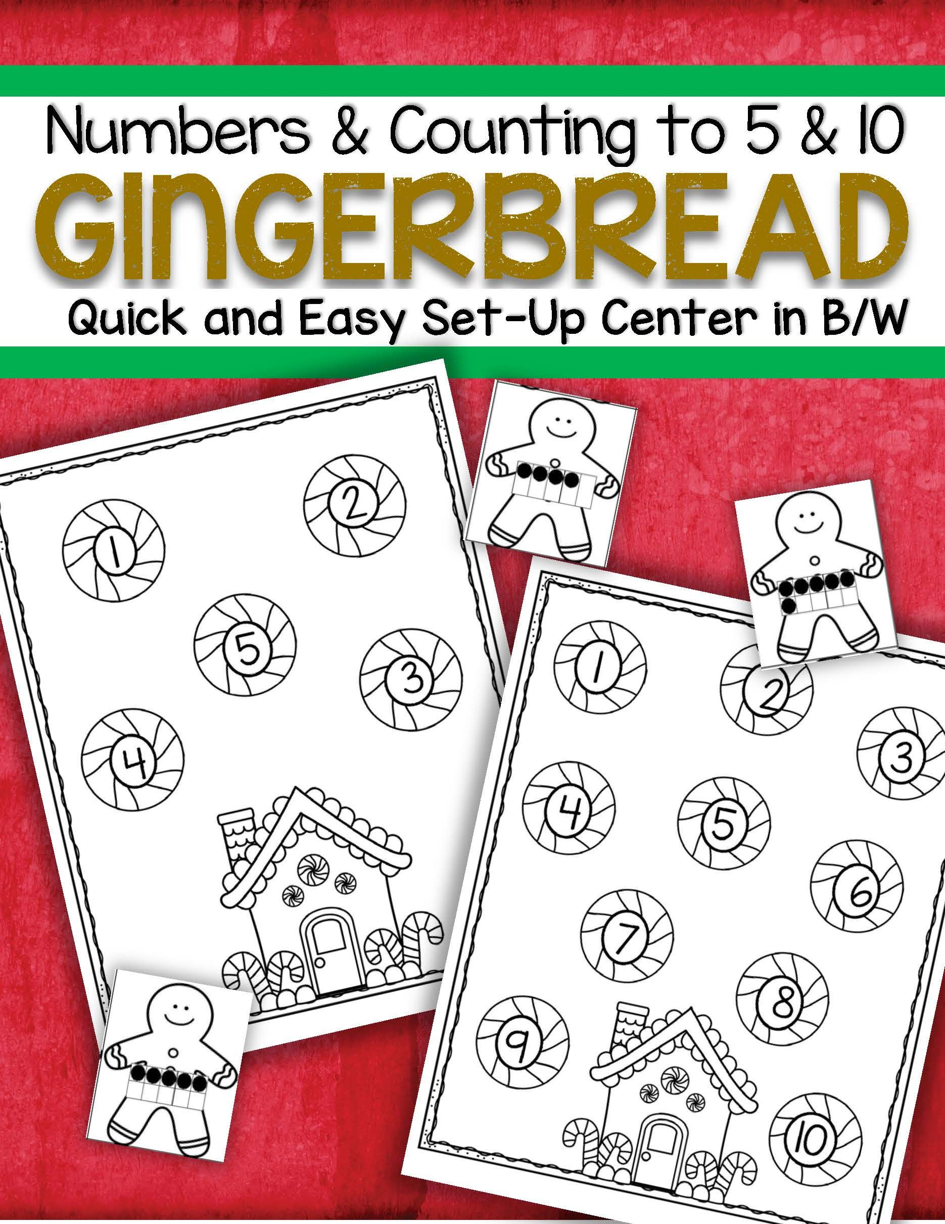 Gingerbread Numbers Counting Quick And Easy Set Up Center
