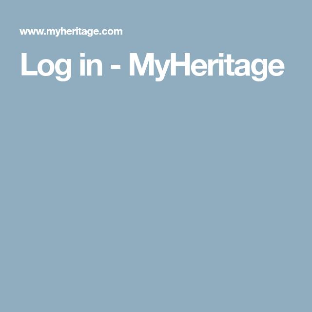 Log in - MyHeritage | Genealogy | My heritage, Website, Free
