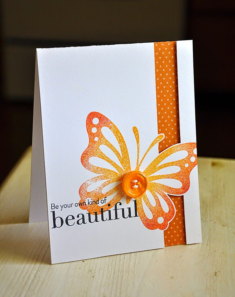 Your Own Kind Of Beautiful Card by Maile Belles for Papertrey Ink (August 2014)