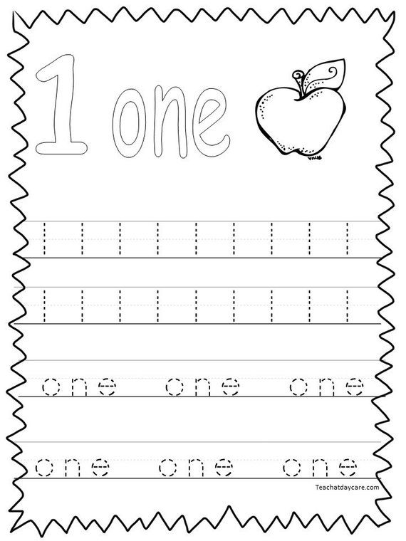 20 Printable Numbers 1-20 Tracing Worksheets. Preschool-Kindergarten ...