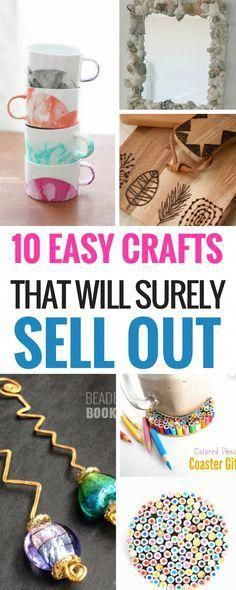 10 Easy DIY Crafts That Will Totally Sell #craftstosell