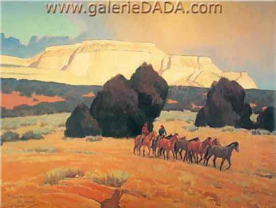 Maynard Dixon,  Land of the White Mesas Fine Art Reproduction Oil Painting kp