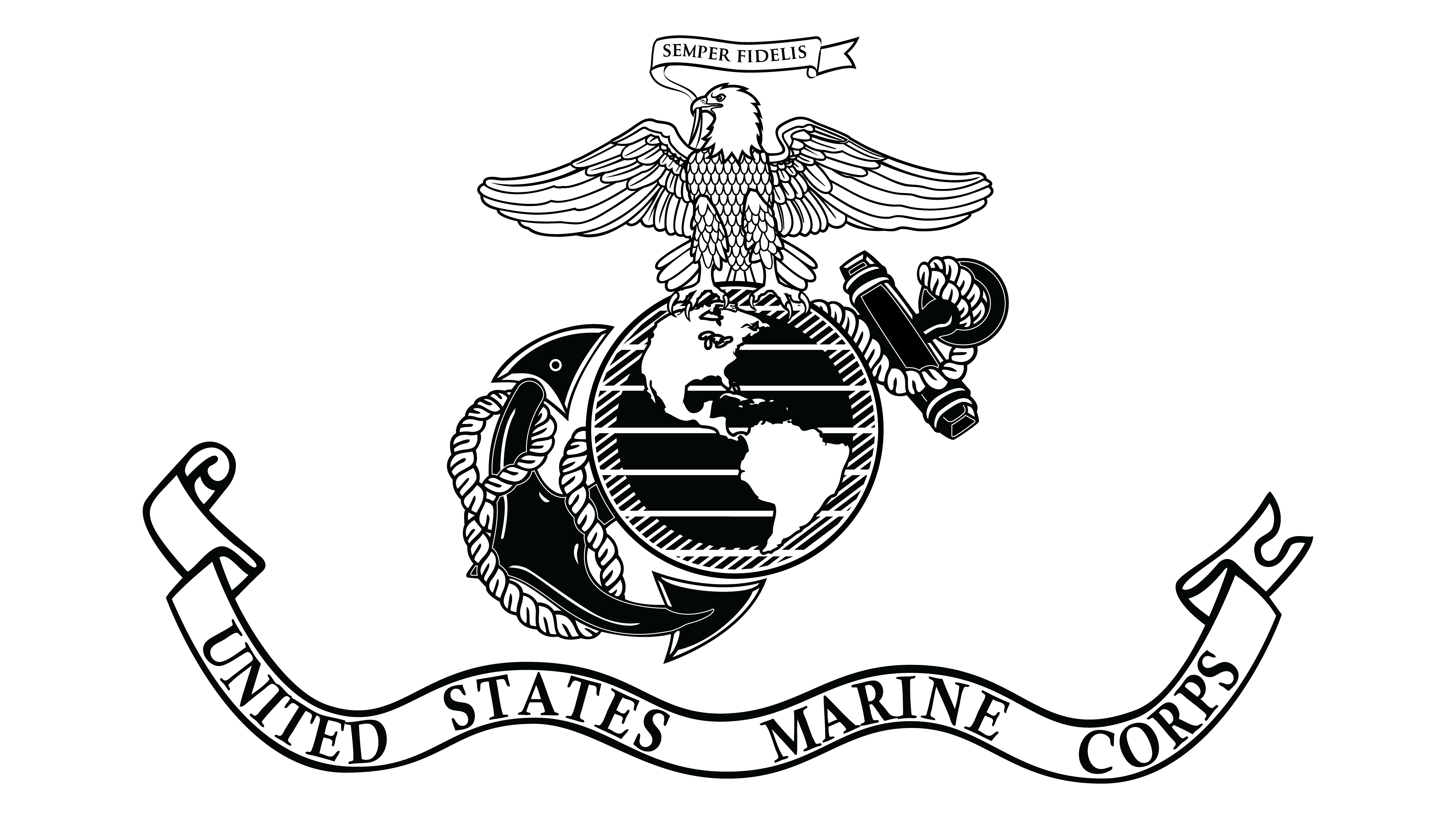 Black And White Marines Pictures to Pin on Pinterest