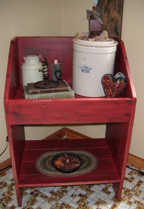 Crock Stand $100.00 Tags: Stars and Stitches Primitives