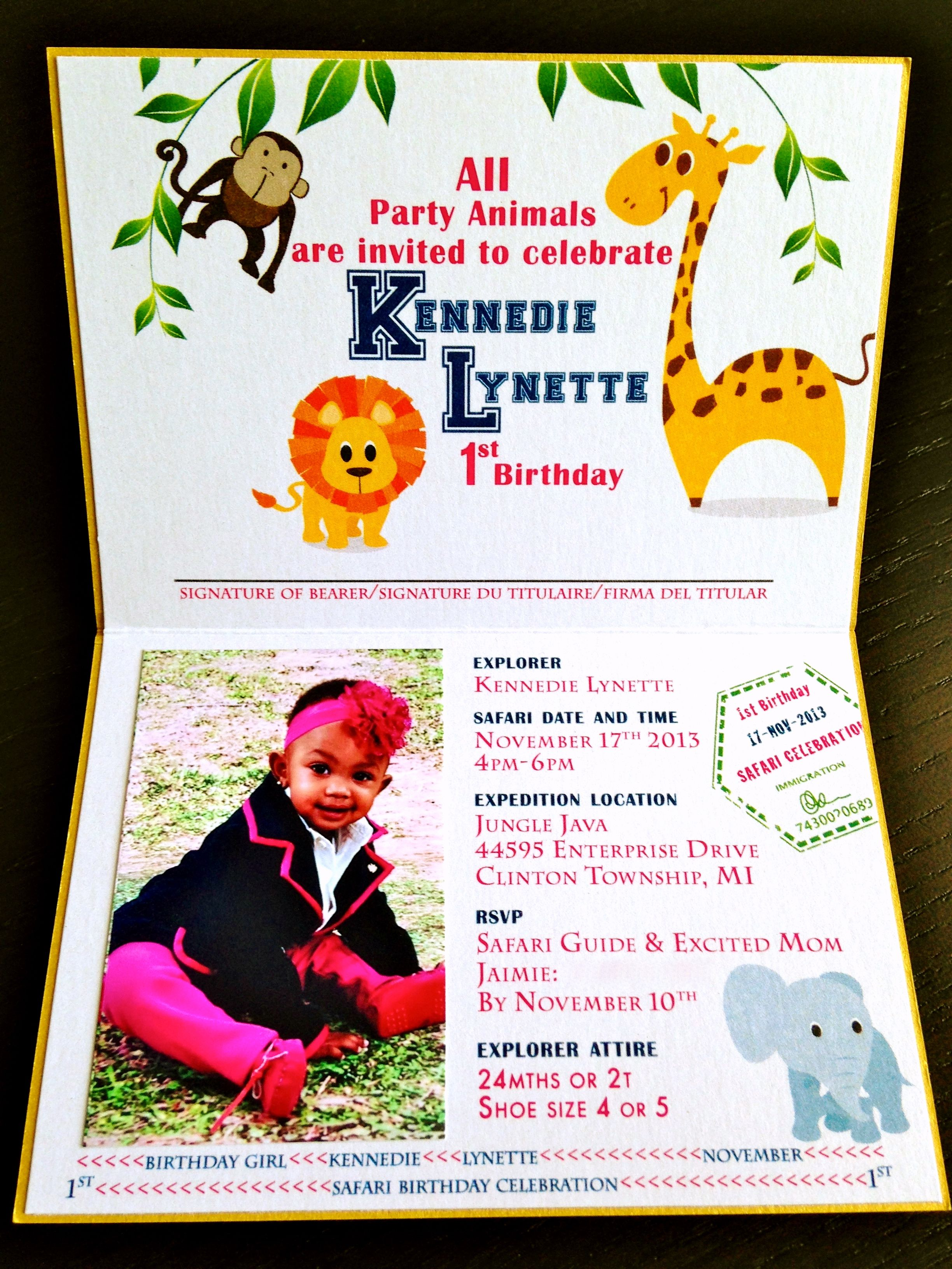 Passport Birthday Invitations | denny | Pinterest | Birthdays ...