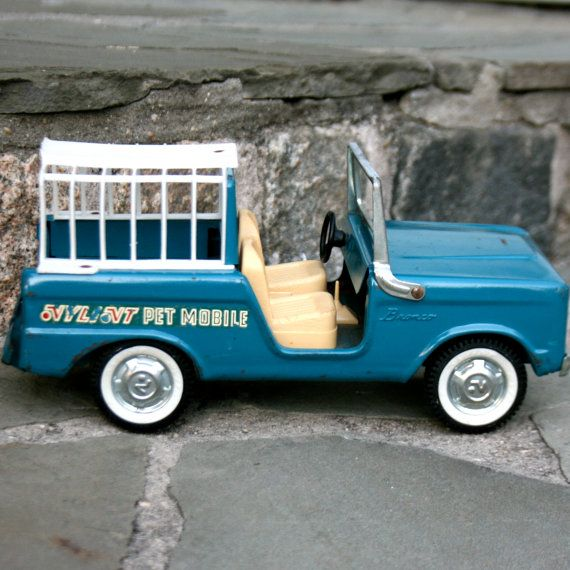 1960 S Ford Bronco Pet Mobile Vintage Nylint Aqua Blue Metal Toy