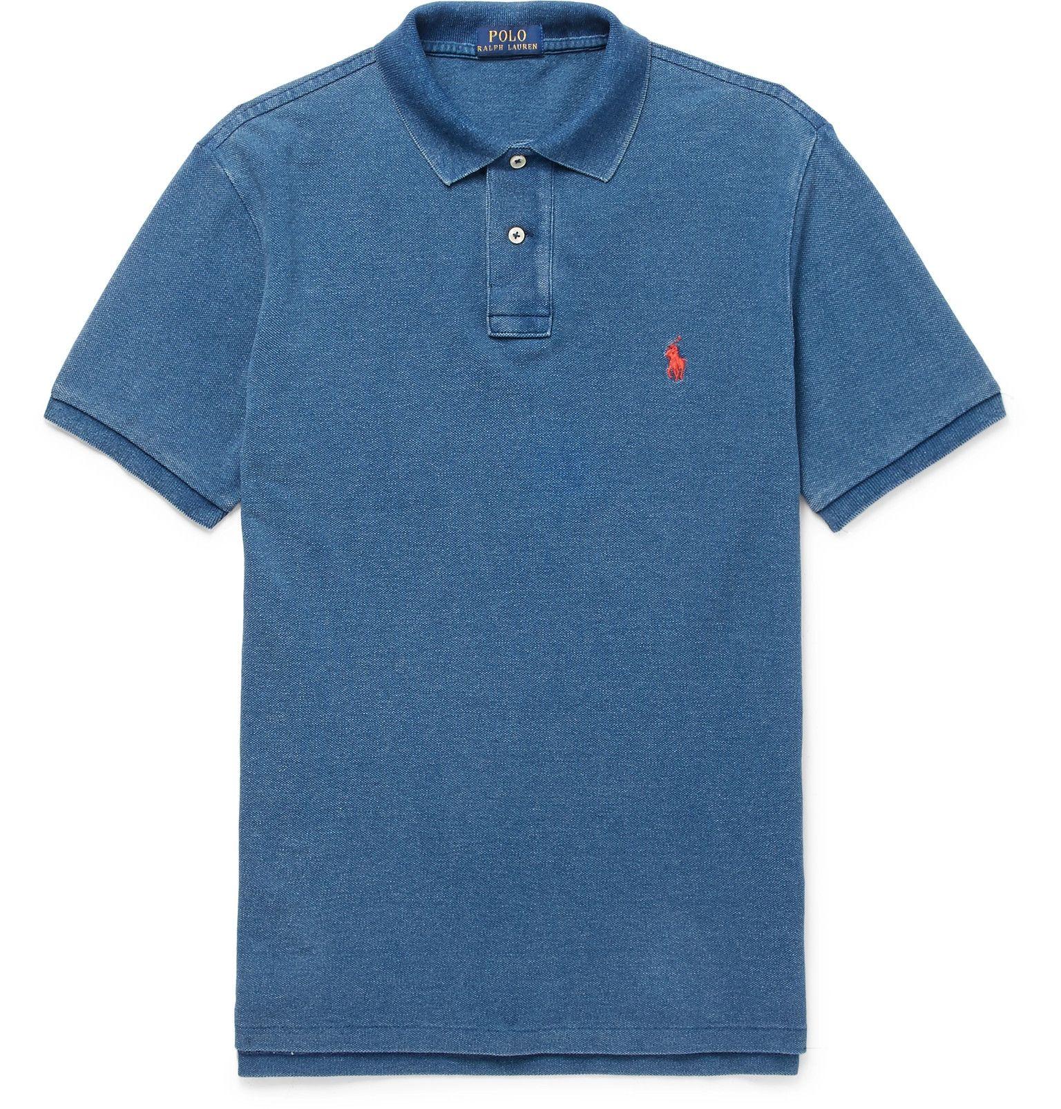 Lacoste Mélange Cotton-piqué Polo Shirt - Blue Pt19iy