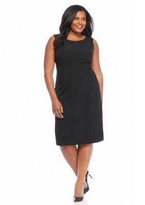 9a5e033d81fb Kasper Plus Size Solid Sheath Dress | Products | Sheath Dress ...