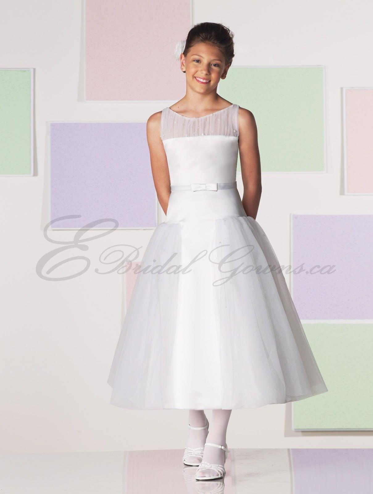 Flower girl dress (in white) for 12 year old flower girl. Pleated ...