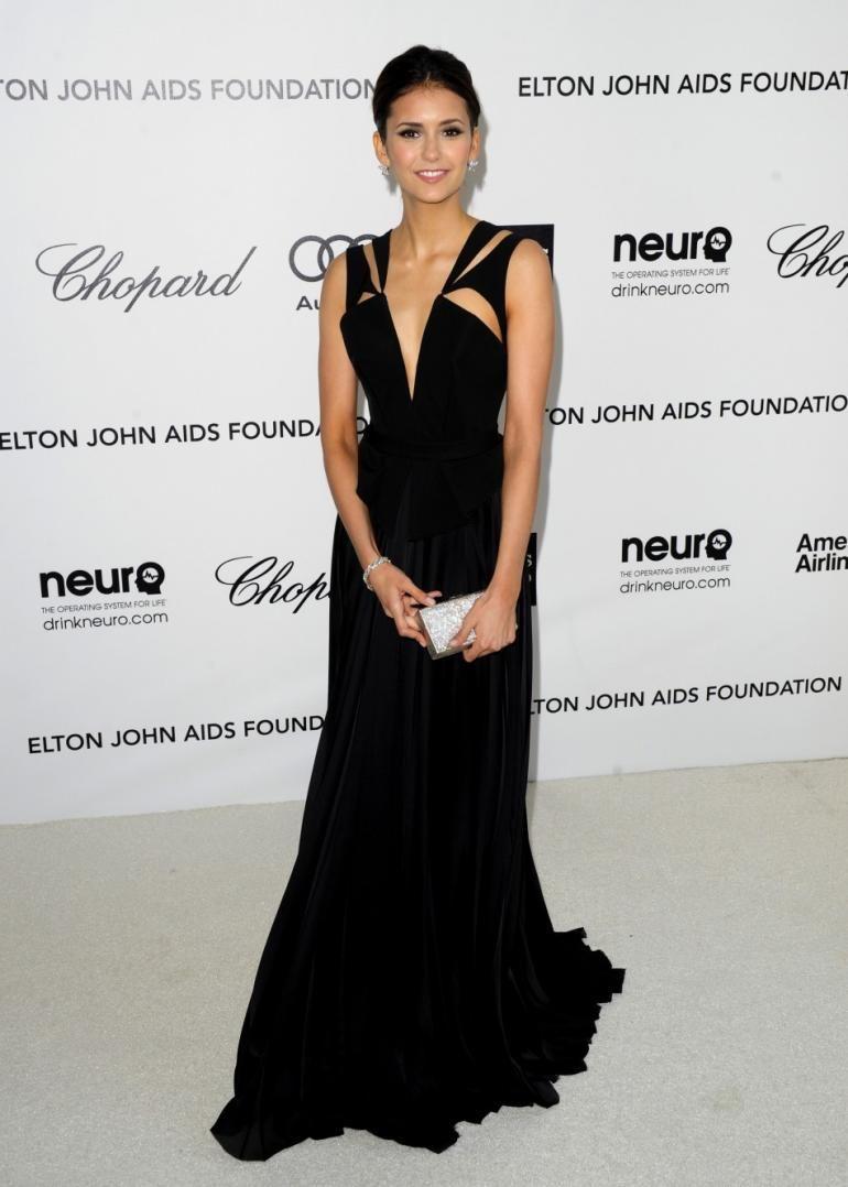 Nina Dobrev Black Dress
