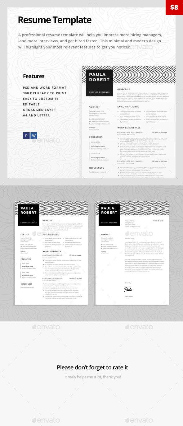 Resume Template  Resumes Stationery  Resumes  Architecture