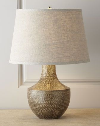 Kettle hammered metal lamp by jamie young at neiman marcus