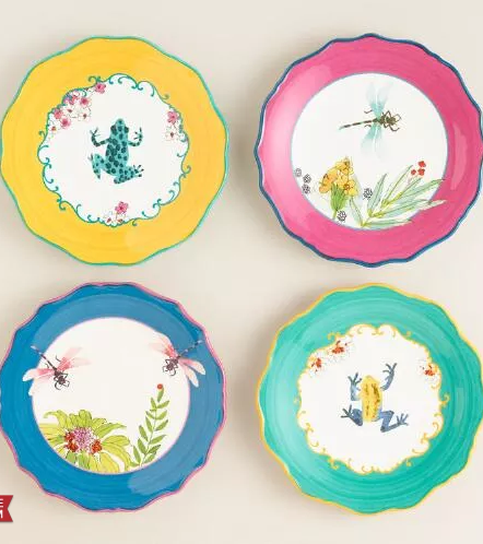 Kitchenware · whimsical dessert plates  sc 1 st  Pinterest & Spring Colored Home | Whimsical Kitchens and Kitchen stuff