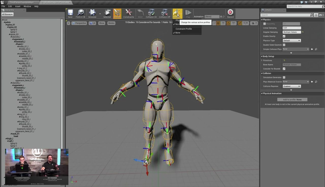 Physical Animation Component Feature in Unreal Engine 4 ...