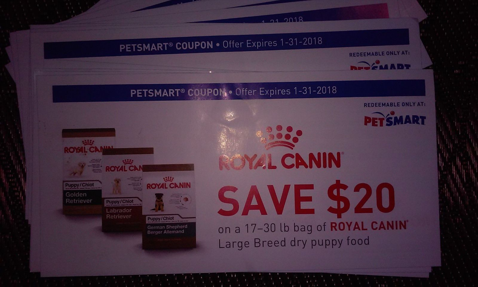 Cool 14x Petsmart Royal Canin Coupon 20 Off Dry Puppy Food
