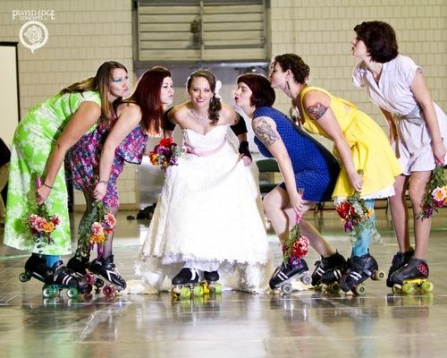 wedding on roller skates - Google Search