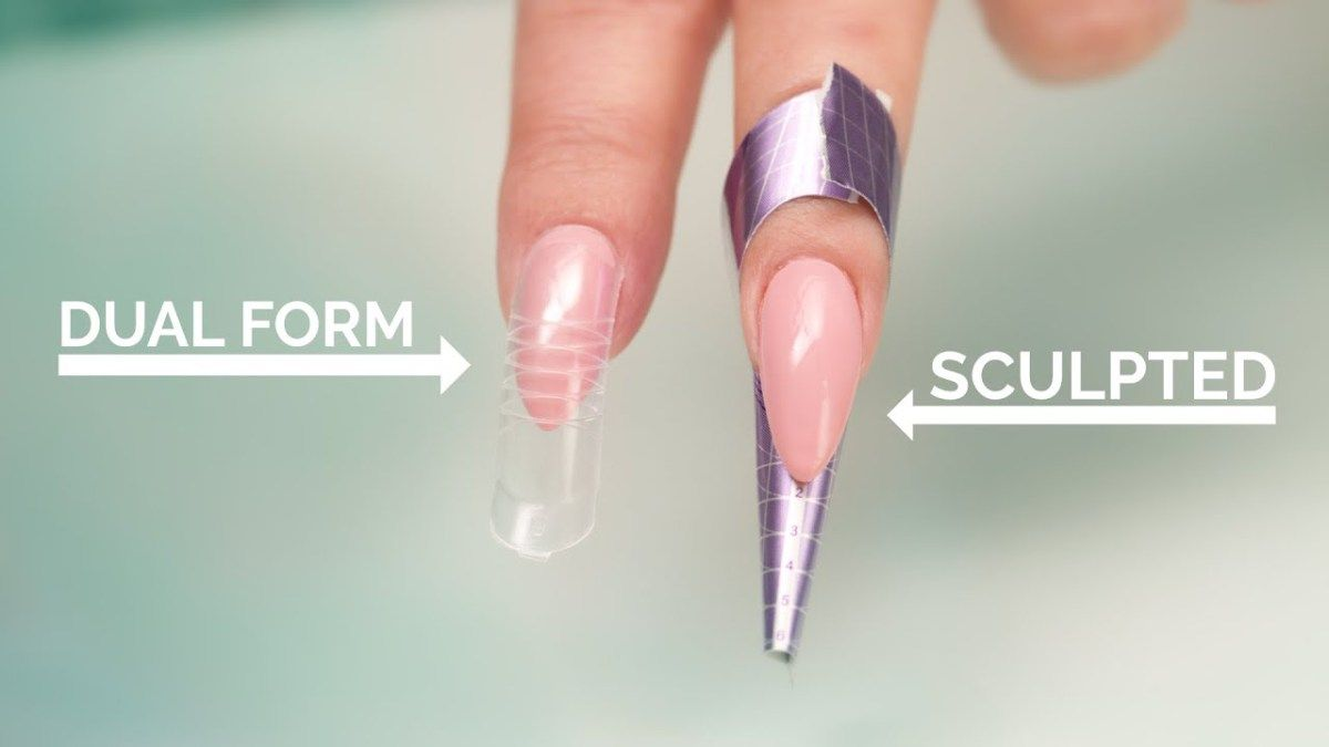 Dual Forms Vs Sculpted Acrylic Nails Diy Acrylic Nails Sculptured Nails Sculptured Acrylic Nails