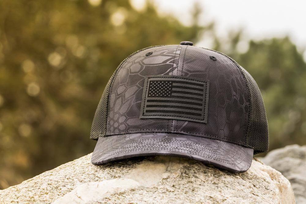 1bd38cf00c7 American Flag Hat - Typon Kryptek Camo