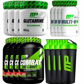 Revenda - Combat 100 Whey + Glutamina + Mltivitamínico + Co - Muscle pharm - Magazine Arrruda