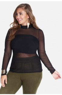 Jessa Mesh Mock Top