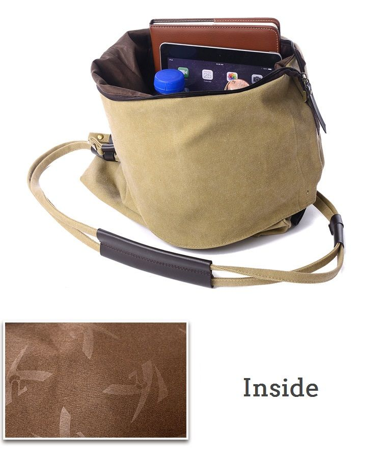 7d673f33af Women Vintage Messenger Bag Genuine Leather Canvas Crossbody Bag Trib –  Mollyca