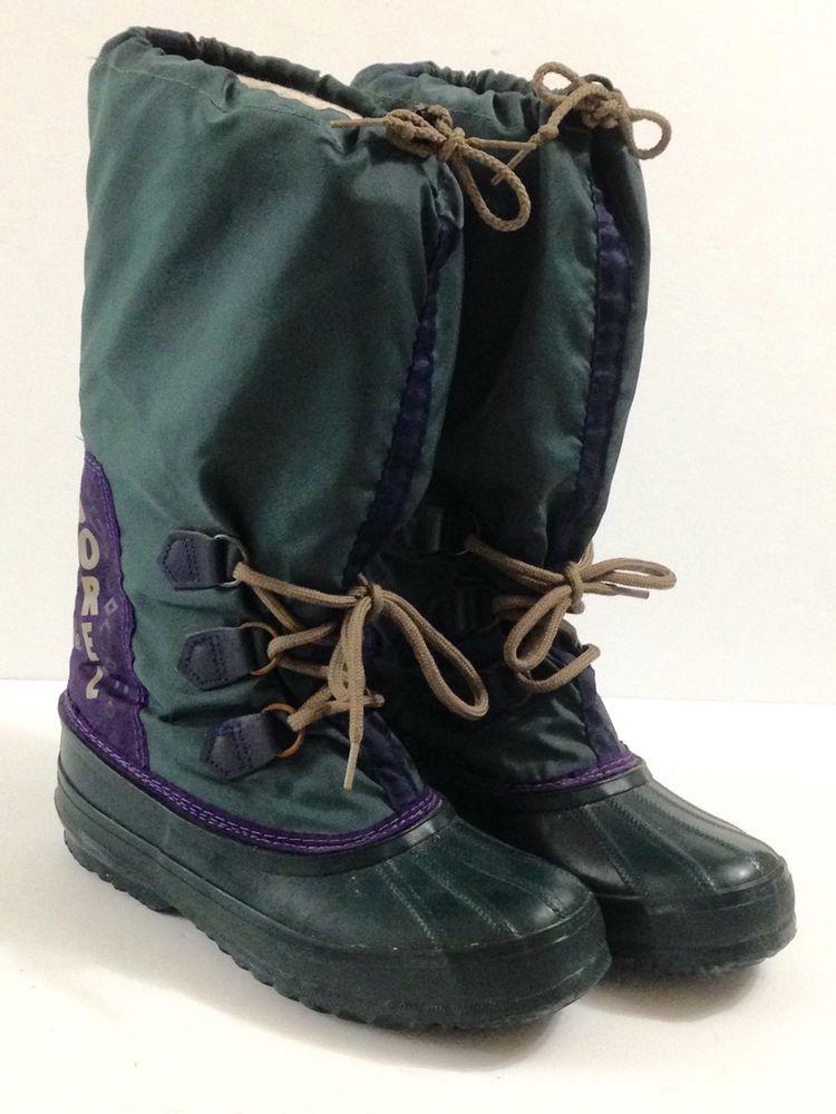 5bdc9bbecf02 SOREL Boots Hand Crafted Natural Rubber Nylon Upper Felt Liners CANADA SZ 7   Sorel  SnowWinterBoots  Casual