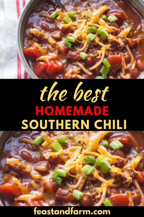 Southern Chili Recipe Recipe Southern Chili Chilli Recipes Southern Chili Recipe