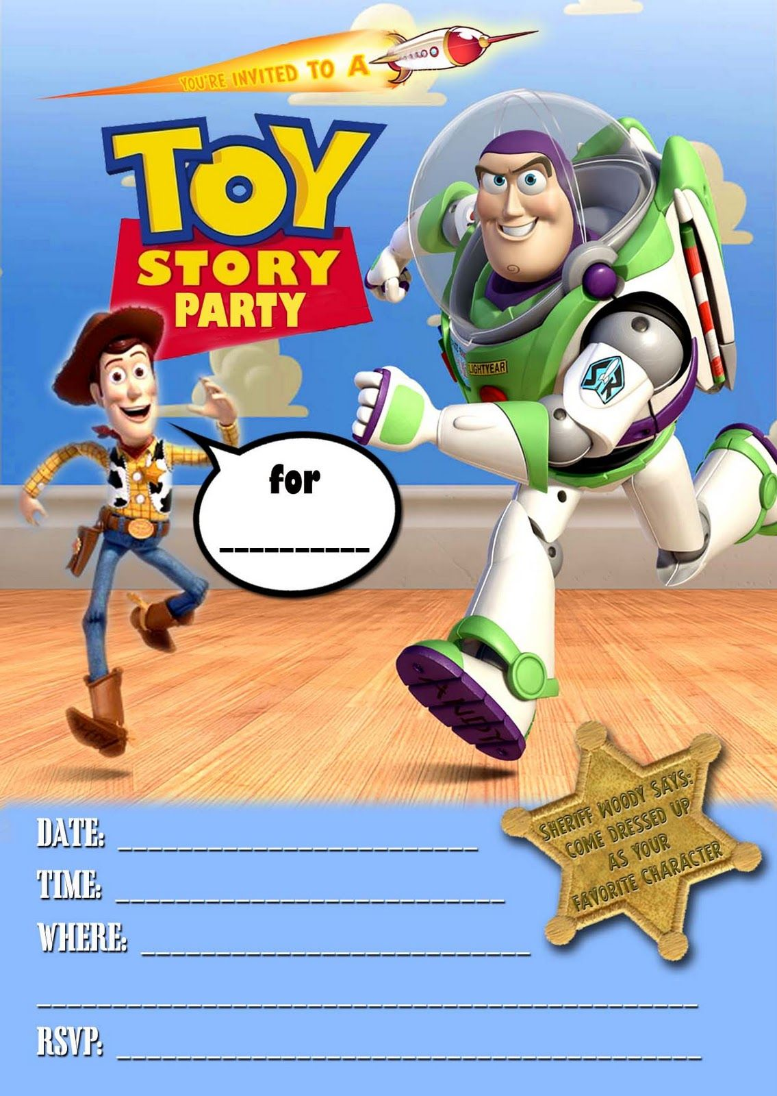 FREE Kids Party Invitations: Toy Story Party Invitation *NEW* | Toy ...