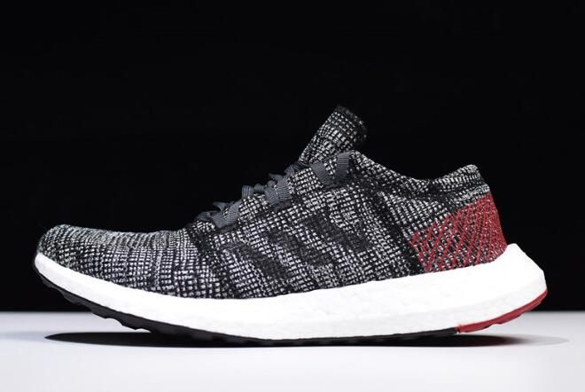 best website f21fd 2fed4 2018 adidas Pure Boost GO CarbonBlack-Red-White AH2323