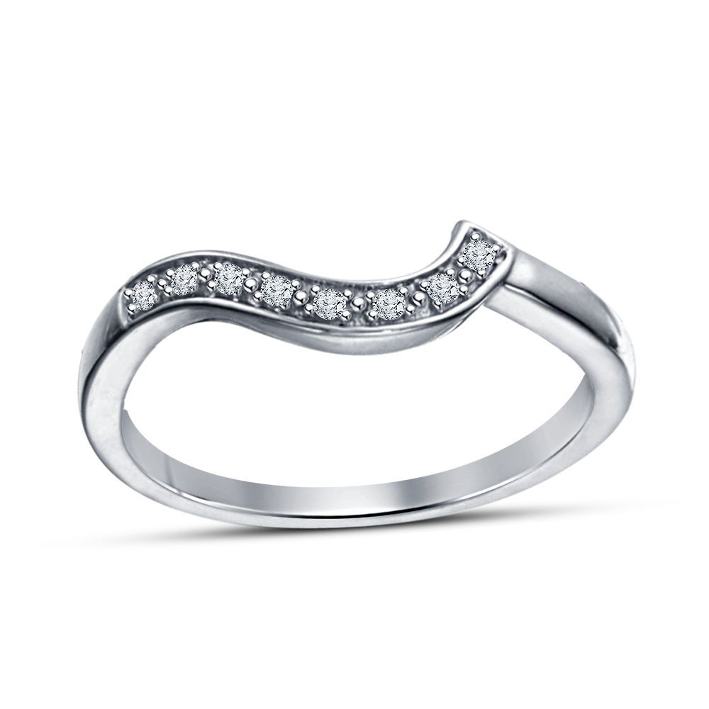 Women's/Ladies Special Round Cut Sim.Diamond Silver Plated Anniversary Band Ring #WeddingAnniversaryBand