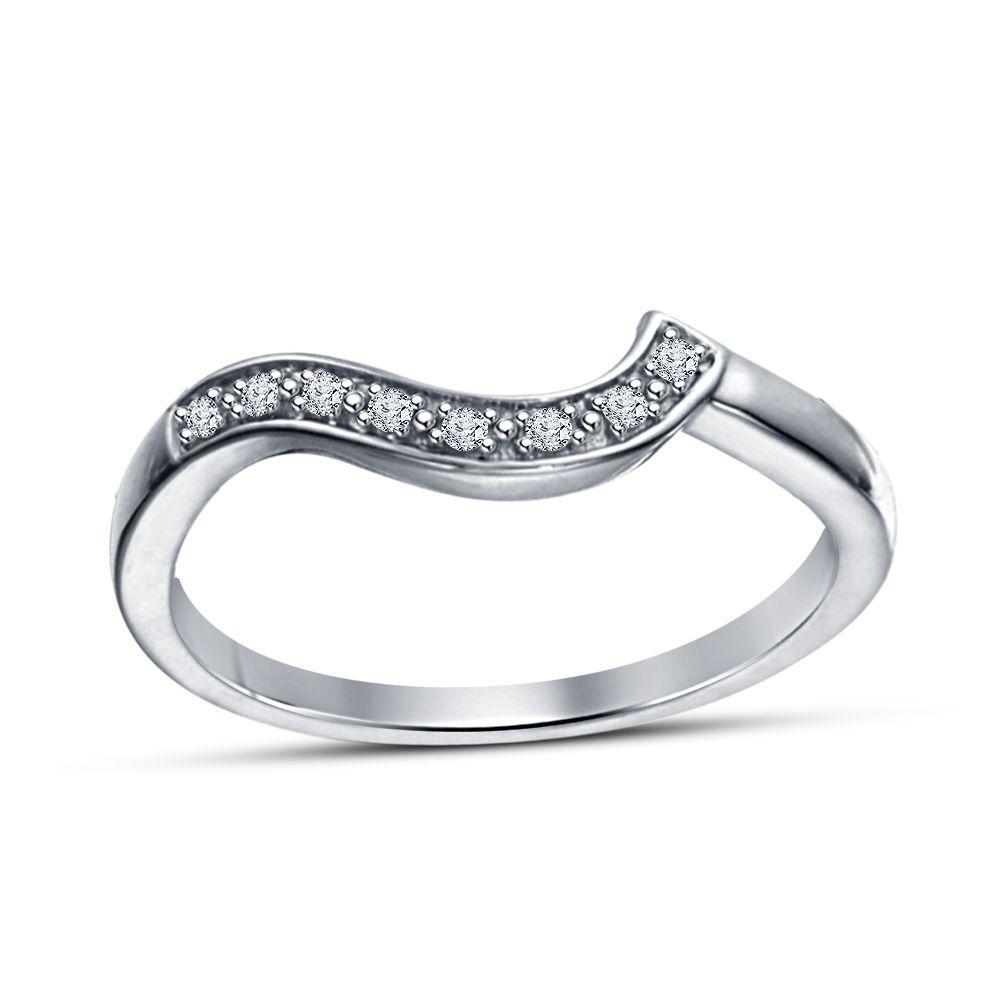 Women's/Ladies Special Round Cut Sim.Diamond Silver Plated Anniversary Band Ring #WeddingAnniversaryBand
