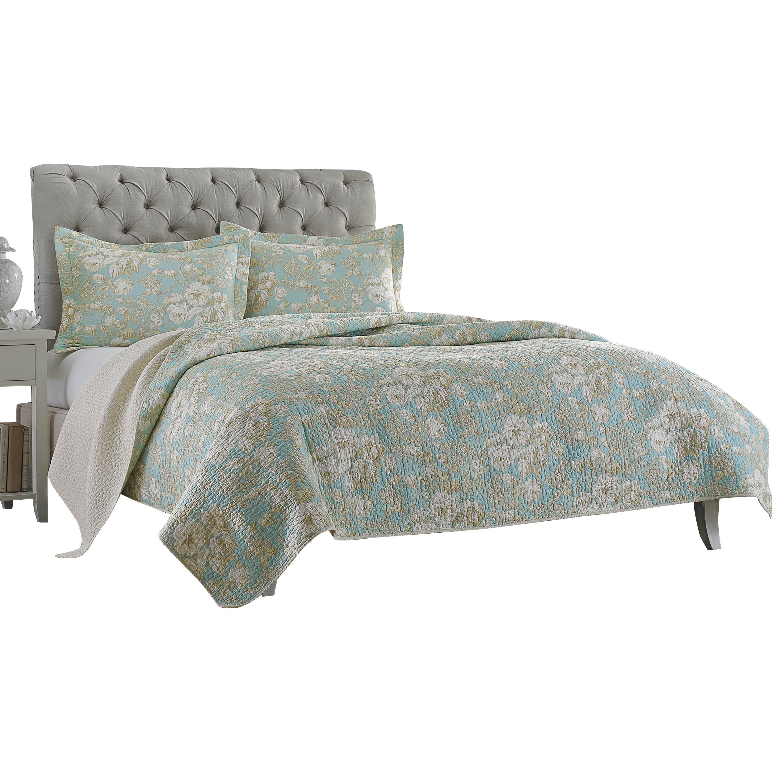 brompton cotton reversible quilt set by laura ashley home laura