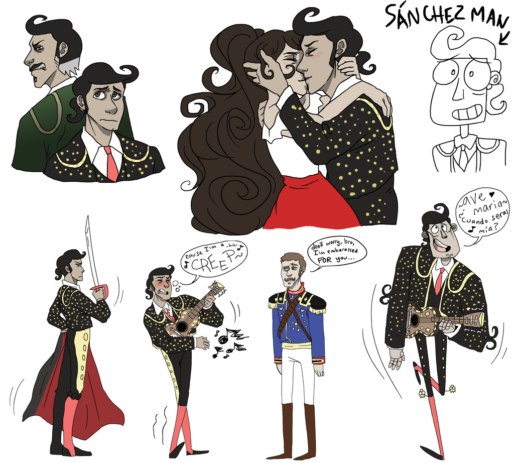 Manolo Colored Sketches by NEOmi-triX.deviantart.com on ...