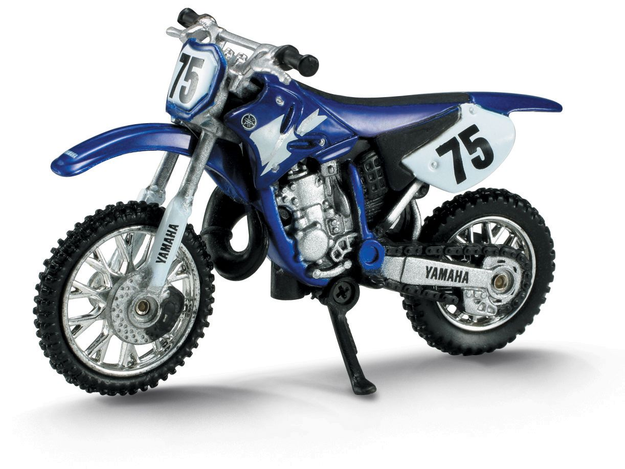 Die Cast Blue Yamaha Yz 125 Dirt Bike 1 32 Scale Yamaha Yz 125