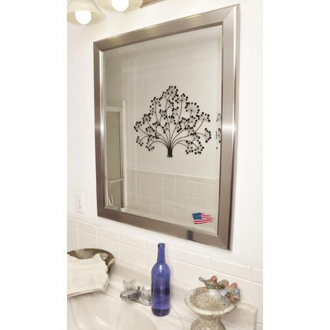 Rayne Mirrors R001MS Silver Rounded 25 x 31 Wall Mirror