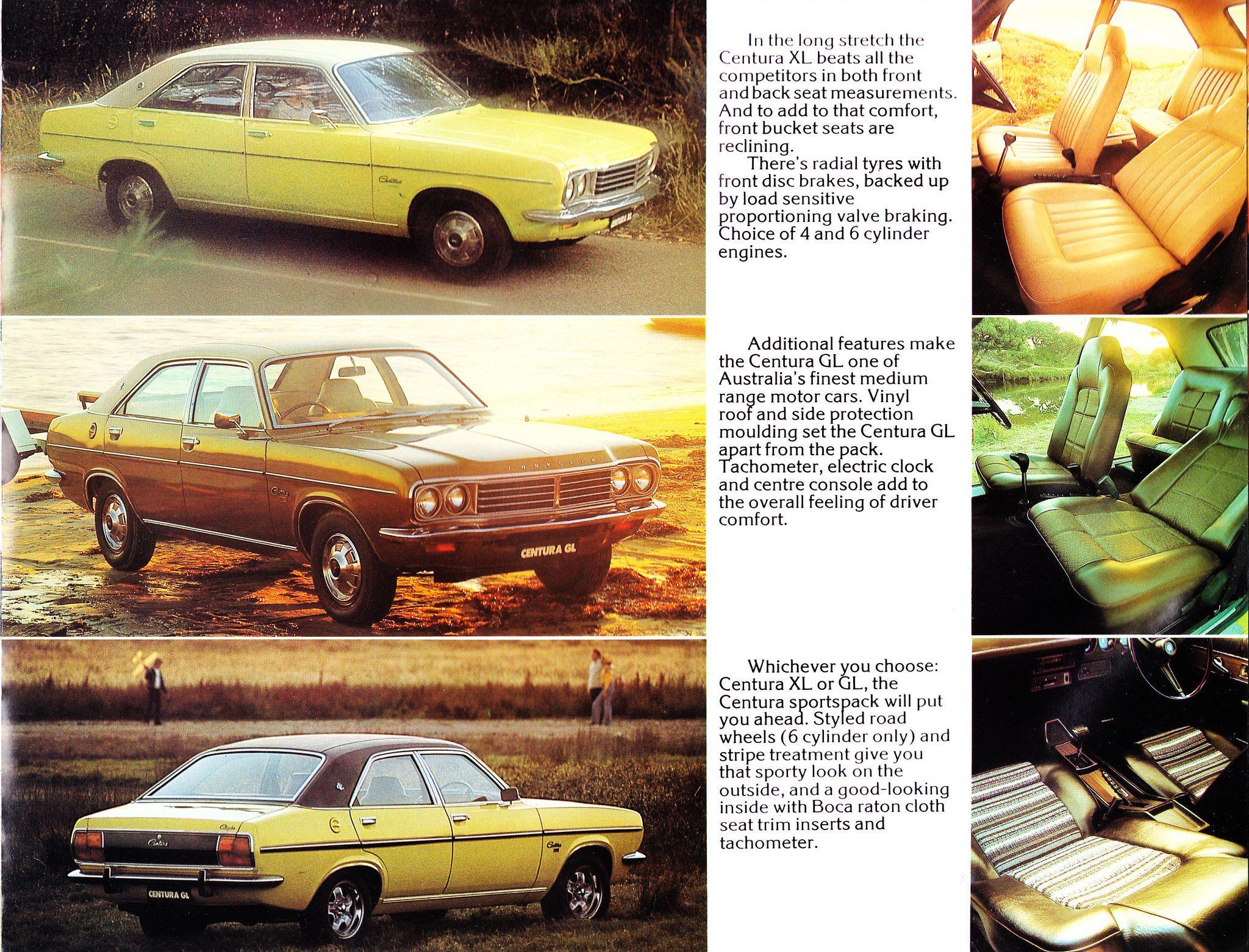 1976 Chrysler Australia Brochure LA Lancer GD Galant KB Centura VK ...