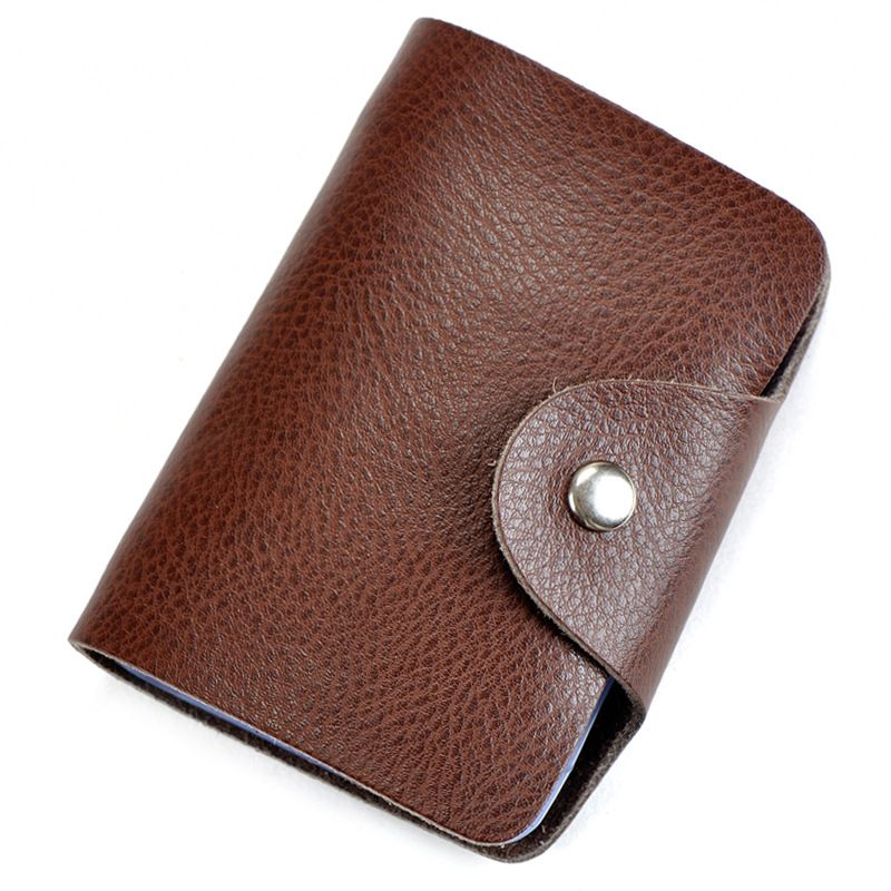 Bank Credit Card Holder For Men Women Genuine Leather ID Card ...