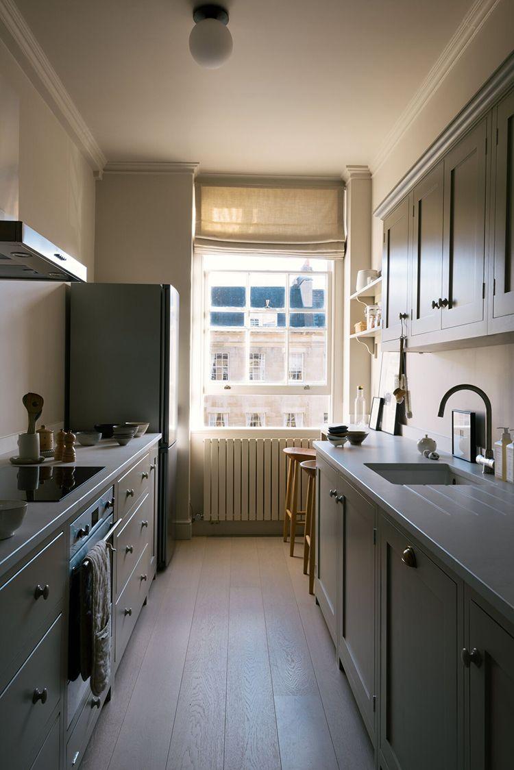 Small Galley Kitchen With Bespoke Breakfast Nook Kitchen Remodel Small Galley Kitchen Design Interior Design Kitchen