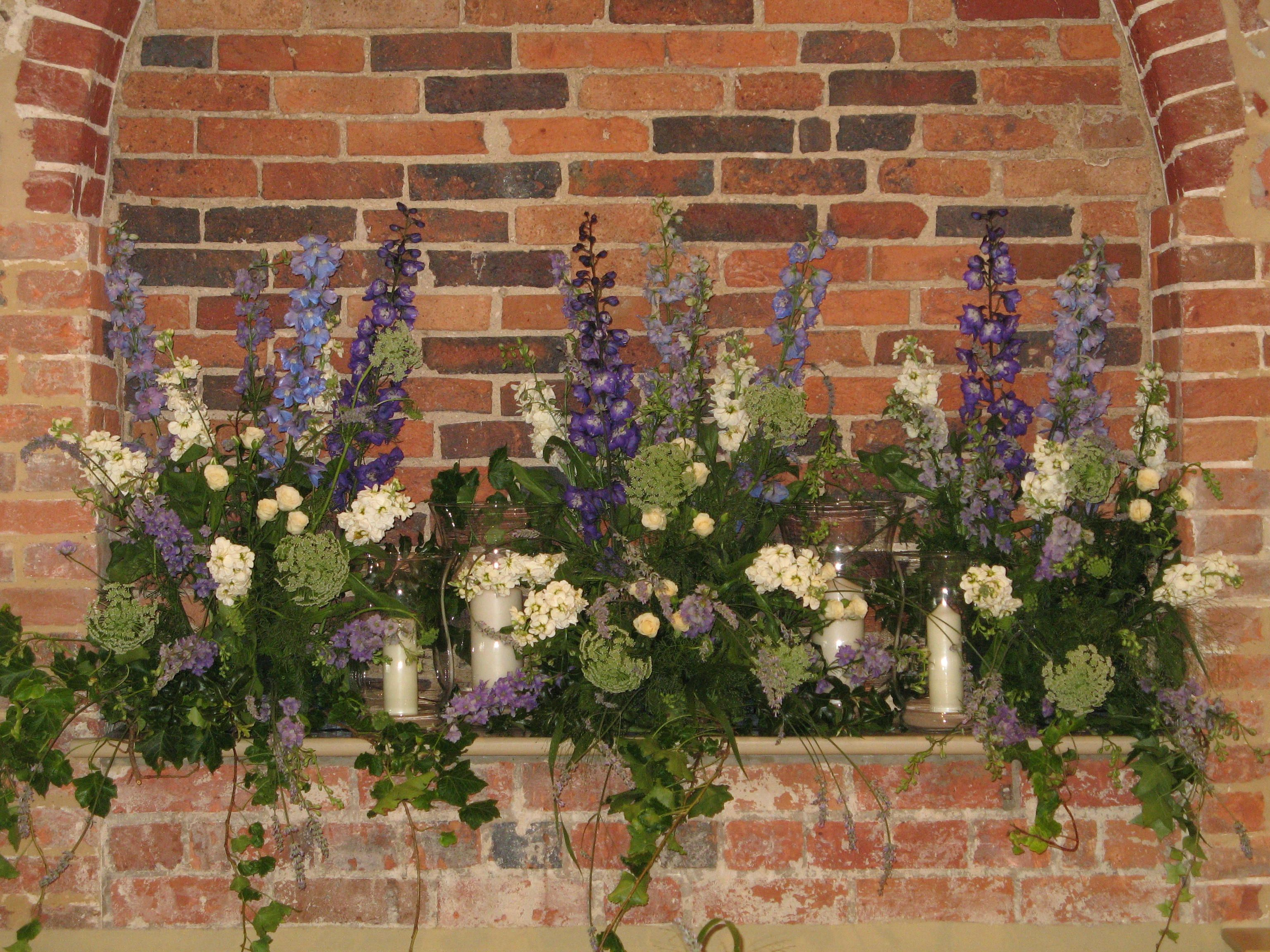 The Walled Garden, Cowdray. Alcove decorated in the Castle