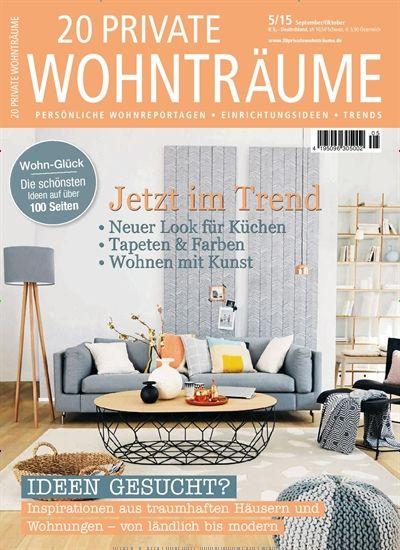 jetzt im trend neuer look f r k chen gefunden in 20 private wohntr ume nr 5 2015. Black Bedroom Furniture Sets. Home Design Ideas
