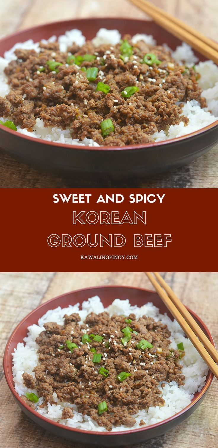 Korean Ground Beef Has All The Flavors Of Your Favorite Korean Bbq But Made Budget Friendly With Ground Beef It S Delic Korean Ground Beef Ground Beef Recipes