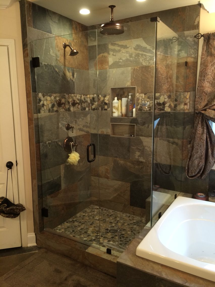 3x4 shower with jacuzzi tub on side. | Ideas for the House ...