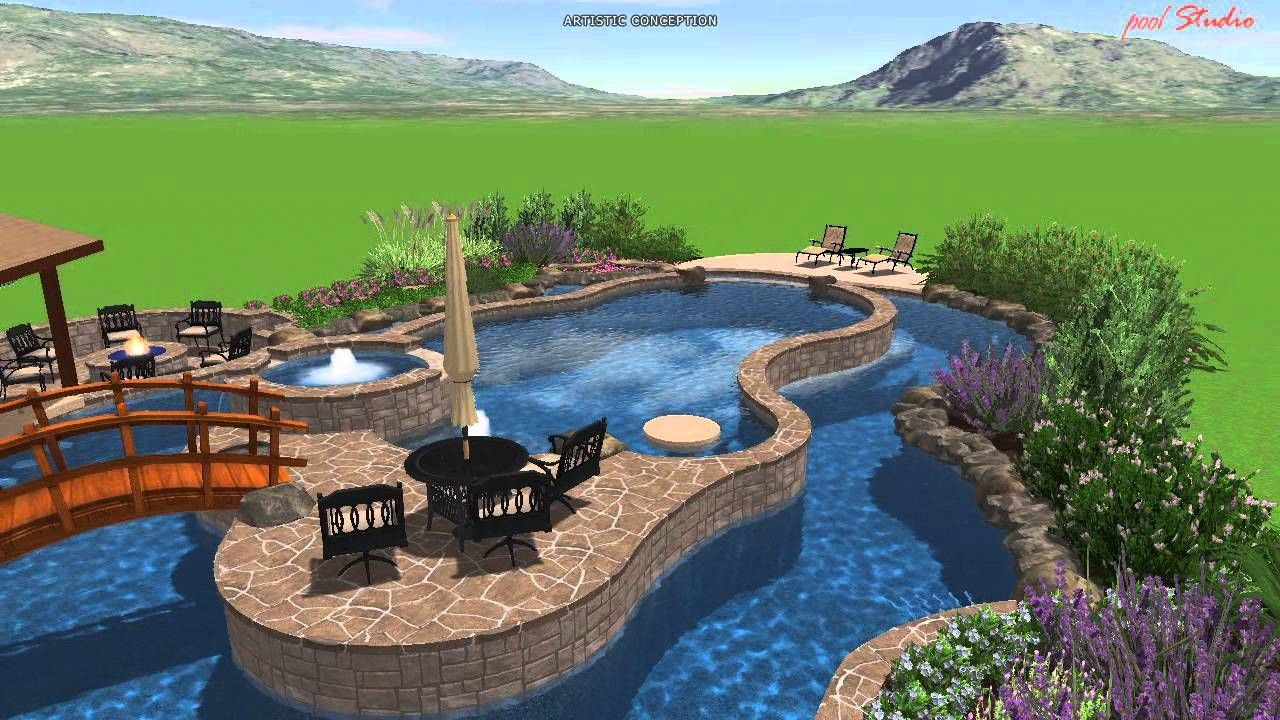 Calvary Custom Pools Lazy River Design | Lazy river pool ...