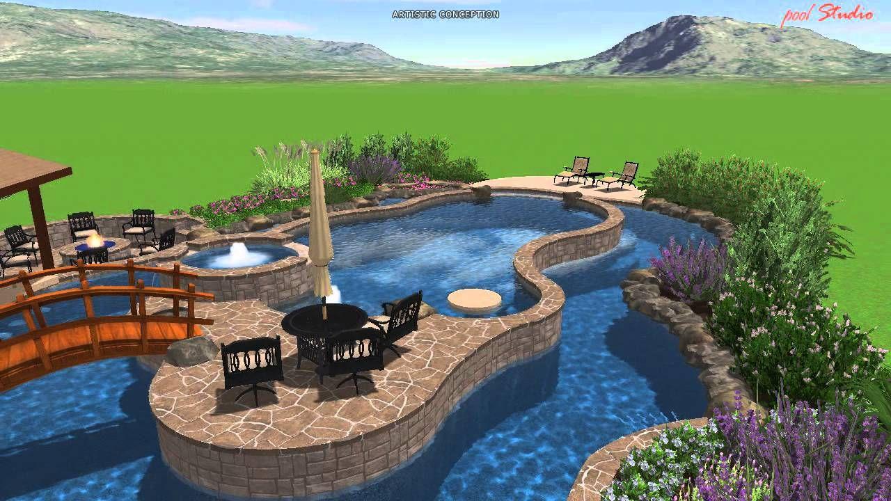 calvary custom pools lazy river design outside pinterest