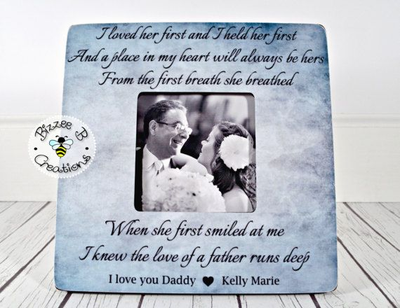 Personalized Picture Frame Gift For Dad Wedding Gift For Dad I